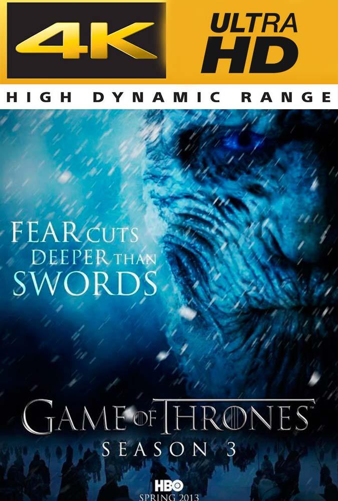 Game of Thrones Temporada 3 Completa Trial UHD 4K Latino